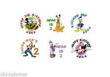 108 Mickey Mouse Clubhouse Hershey Kiss Labels Stickers Personalized CHANGES OK