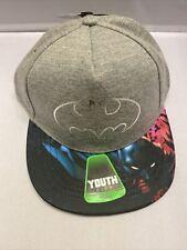 DC Comics Batman Boys Snapback Cap Youth Size One Size Gray