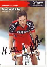 CYCLISME carte cycliste MARTIN KOHLER équipe BMC 2010 signée