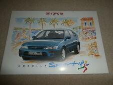 Toyota Corolla Sportif & Sportif SE Limited Edition  Brochure 1995