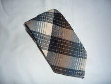 KR1335 Walbusch  Krawatte Baumwollmischung Grautöne Schwarz Braun Blau Creme 150