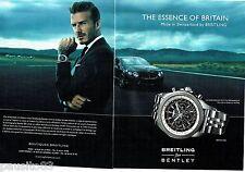 PUBLICITE ADVERTISING  116  2013  Breitling (2p) montre Bentley B06