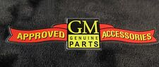 Chevrolet GM Approved Accessories decal 1930's 35 36 37 38 39 Sm
