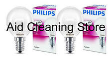 2 x PHILIPS BRANDED Oven 40w Lamp SES E14 Small Screw Cap 300° Cooker Bulb A8297