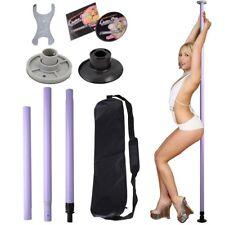 Portable Asjustable Stripper Strip Club Exercise Fitness Workout Pole DVD Set