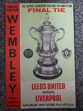 More details for leeds united v liverpool 1965 fa cup final