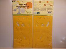 047292971168 (2) Sports Fan Stencils Packs