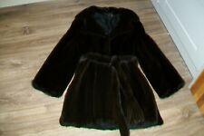 Black mid-length mink fur coat.UK 12 (M/L).Slightly used.