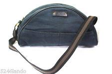 Vintage GUCCI Navy Blue Small Tiny Denim Canvas Handbag Shoulder Bag Italy