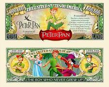 PETER PAN ! BILLET 1 MILLION DOLLAR US ! Collection dessin animé Disney Crochet