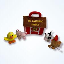 Aurora My Barnyard Friends Plush Mini Farm Animal Play Set Soft Baby Toys Sounds