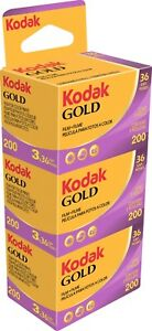 3er Pack Kodak Gold 200 135-36 Farbfilm Color Kleinbildfilm ✅ MHD 09/2023