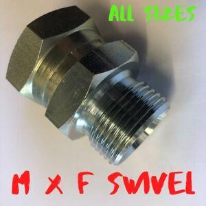 Hydraulic Adapters male x swivel Female BSP 60° CONE all Sizes Burnett & Hillman