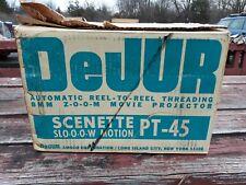 New Vintage 8mm DeJur Scenette Pt-45 Movie Projector Slow Motion w/ box