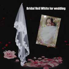 3 Meters Long Lace Edge Cathedral Wedding Gown Bridal White Tulle Veil CO