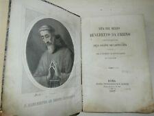 Raro Libro antico Vita del Beato Benedetto da Urbino 1867