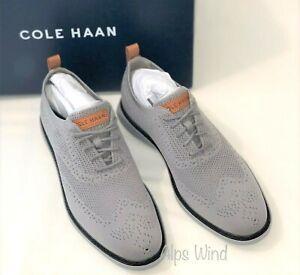 NWB Cole Haan C32154 Grand Evolution Stitchlite Wingtip Oxford Shoes, Gray SZ.10