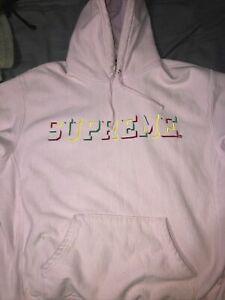 Supreme hoodies: Light Pink: Supreme Drop shadow