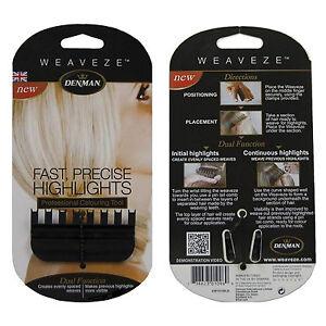 Denman Weaveze Hairdressing Comb Colouring & Highlighting Hair Weave eze weave