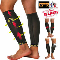 Copper Calf Leg Running Compression Sleeve Socks Shin Splint Support Wrap Braces