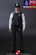 "Modeling Toys 1/6 Scale 12"" British Metropolitan Police Service Figure MMS-9001"