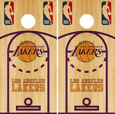 Los Angeles Lakers Cornhole Wrap NBA Court Game Board Skin Set Vinyl Decal CO632