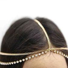 Boho Lady Rhinestone Drop Head Chain Jewelry Forehead Dance Headpiece Hair Band