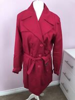 Designer Matthew Williamson Pink Lined Belted Mac Size 16 , Cotton