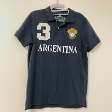 Robin Ruth Argentina #3 Men's Polo Shirt Size Small Navy Blue Rugby Embroidered