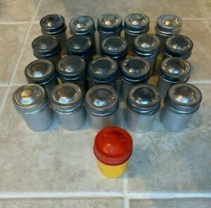 kodak metal cans lot of 21 empty 35mm film canister cans