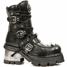 New Rock Ankle Boots M.990-S1 Zwart Leer -  - Gothic - Rock - Goth - Alternative