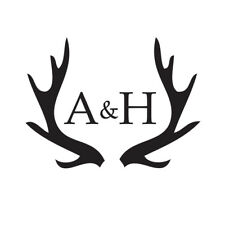 WEDDING STAMP, PERSONALISED BESPOKE INITIALS NAME & DATE ANTLER WEDDING