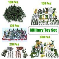100/150/170/210/300 Pcs Military Plastic Toy Soldiers Kit Army Men Figures Set