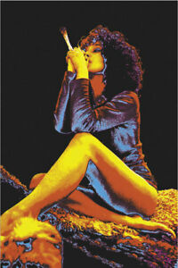 "24""x36"" Smoking Woman Blacklight Poster"