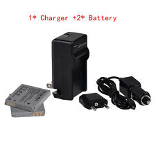 Charger + 2* NB-4L Battery For Canon PowerShot SD450 SD600 SD750 SD960IS SD1000
