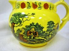 VTG MOTTAHEDEH PITCHER CREAMER YELLOW MY HEART IS FIX'D SMITHSONIAN LOVE