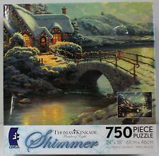 750PC THOMAS KINKADE SHIMMER CHRISTMAS PUZZLE MADE IN USA 750 PIECE JIG SAW