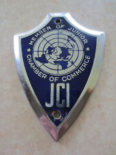 Vintage Junior Chamber International car badge for MG Austin Jaguar Mini VW Ford