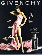 PUBLICITE  advertising 2000   GIVENCHY parfum femme HOT COUTURE