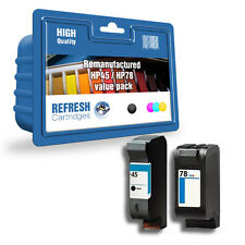 REFRESH CARTRIDGES 51645A / C6578A INK VALUE PACK COMPATIBLE WITH HP PRINTERS