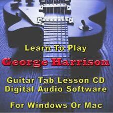 GEORGE HARRISON Guitar Tab Lesson CD Software - 26 Songs