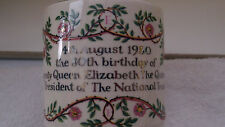 1980 BONCATH  MUG FOR THE  80th BIRTHDAY OF QUEEN ELIZABETH THE QUEEN MOTHER