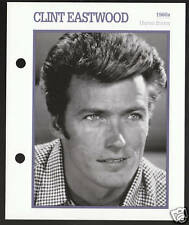 CLINT EASTWOOD Atlas Movie Star Picture Biography PHOTO CARD