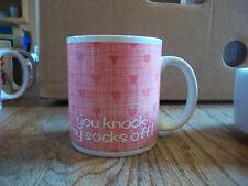 Enesco You Knock My Socks Off 1985 Coffee Mug Red Hearts Valentines Gift Love