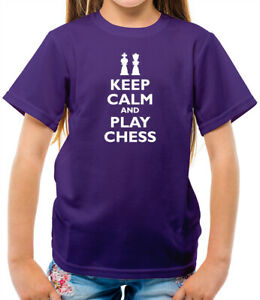 Keep Calm and Play Chess Kids T-Shirt - Player - Game - Board - Nerd