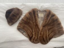 Vintage Mink Stoll with matching cap