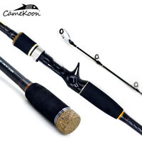 CAMEKOON Casting Fishing Rod 4-Piece Carbon Fiber Ultralight Travel Fishing Pole