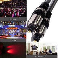 Digital Fibre Optical Audio Toslink SPDIF Cable Lead Surround Sound DTS SKY Ps4