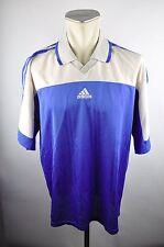 90s adidas Vintage Trikot Shirt Gr. XL oldschool Jersey blau Rohling