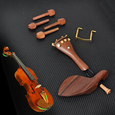 one set Rosewood Violin Parts 4/4 Fittings Chinrest Pegs Tailpiece Tuners Endpin